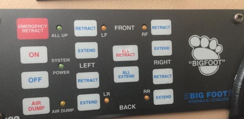 BIG FOOT leveler control panel