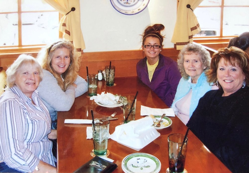 Nana loved spending quality time with her family. And LOVED eating out!