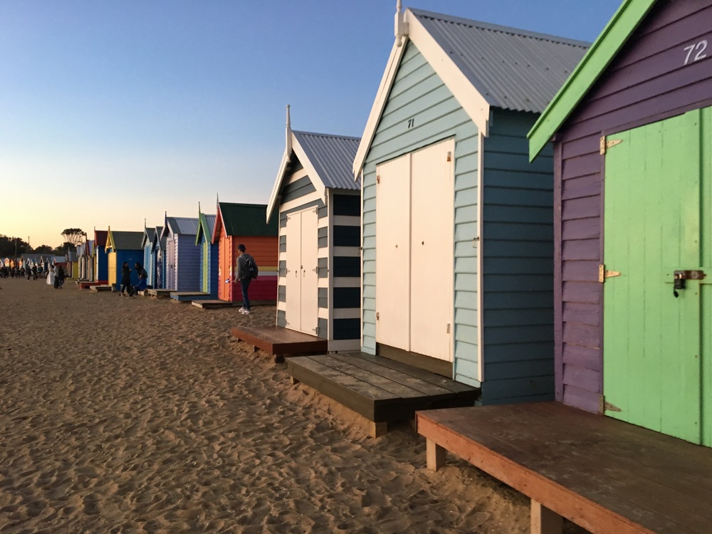 Colourful beach huts, Brighton