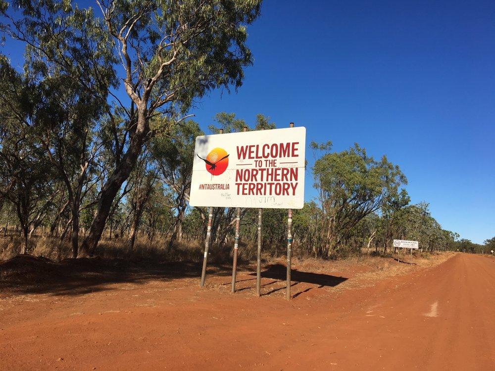 Grenze zum Northern Territory