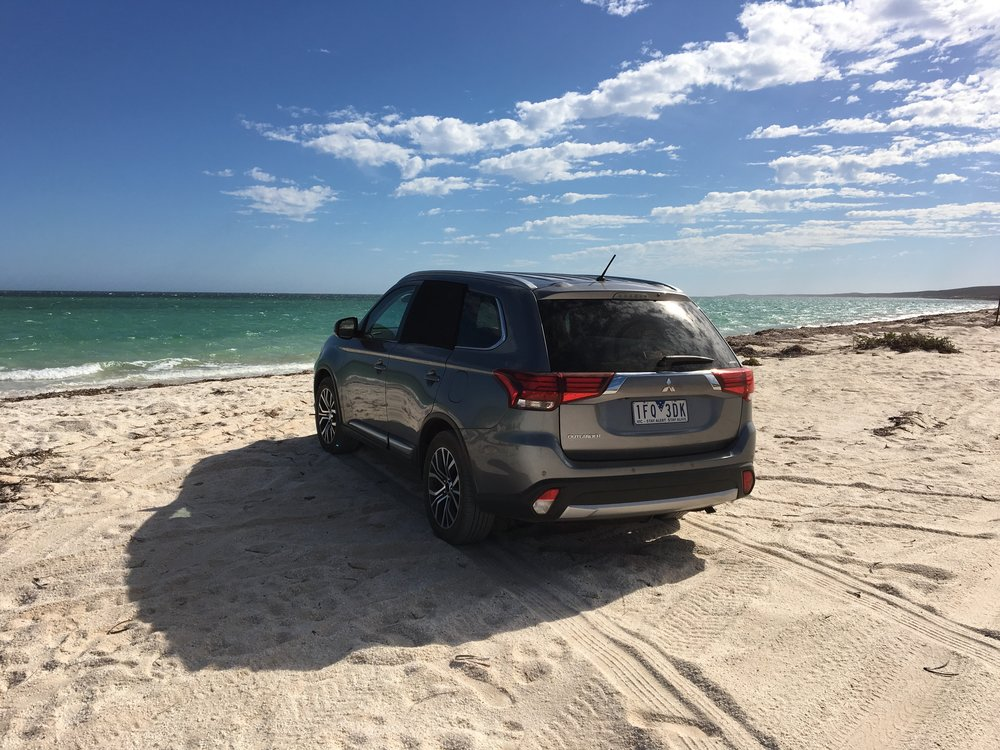 Driving right on the beach