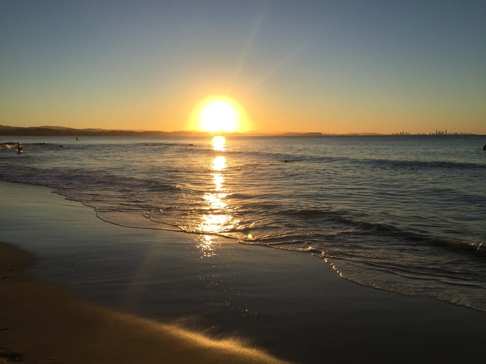 Sonnenuntergang Gold Coast