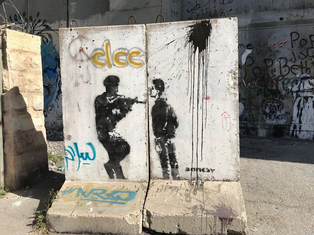 Graffitikunst Mauer Bethlehem
