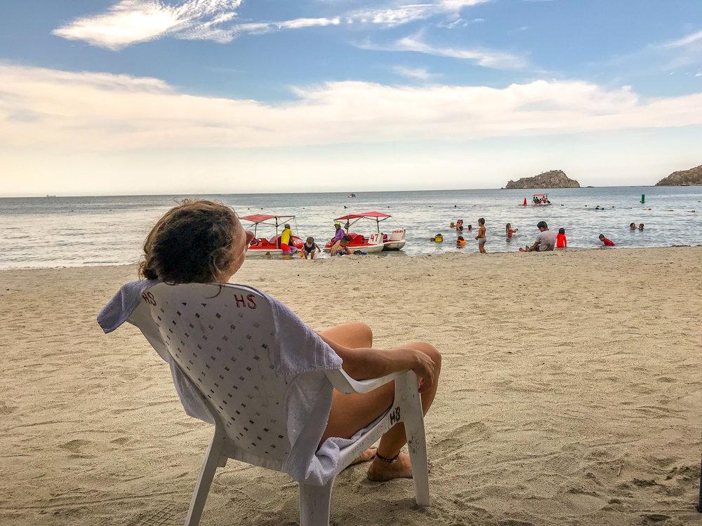 Santa Marta - Playa Blanca beach