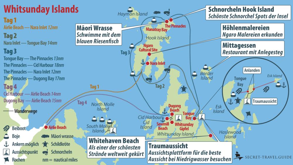 Whitsunday Islands Karte