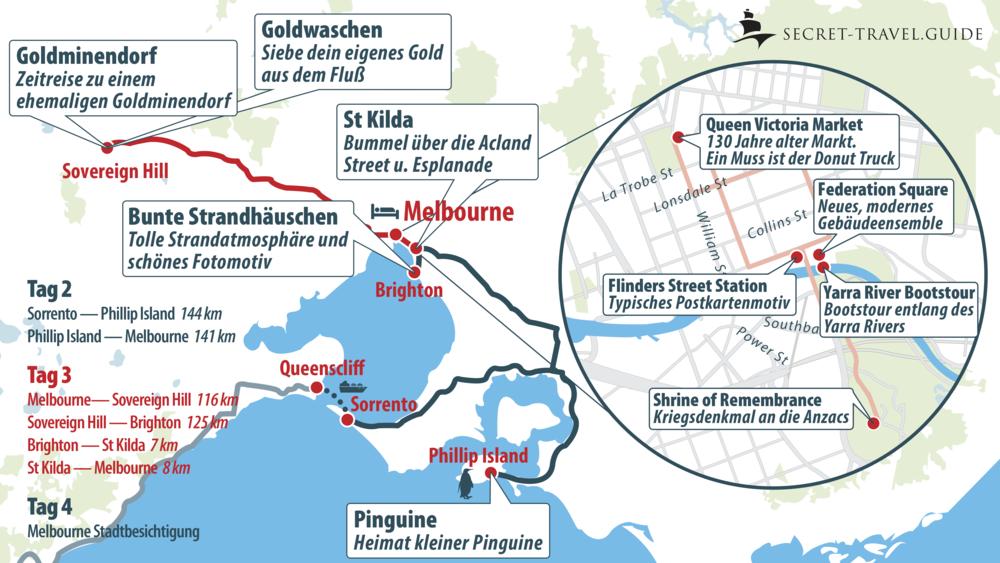 Melbourne Karte