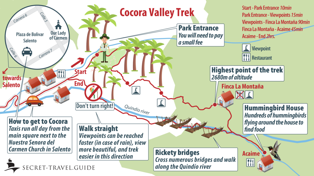 Cocora Valley Colombia Map