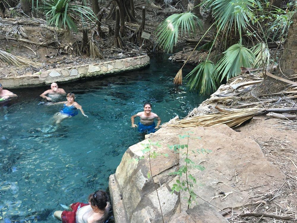 Natural thermal springs in Mataranka