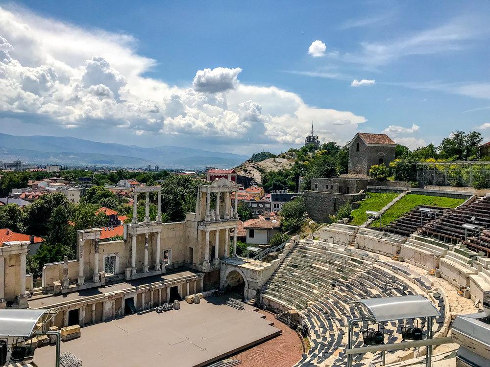 The Ancient Roman Amphitheatre in Plovdiv