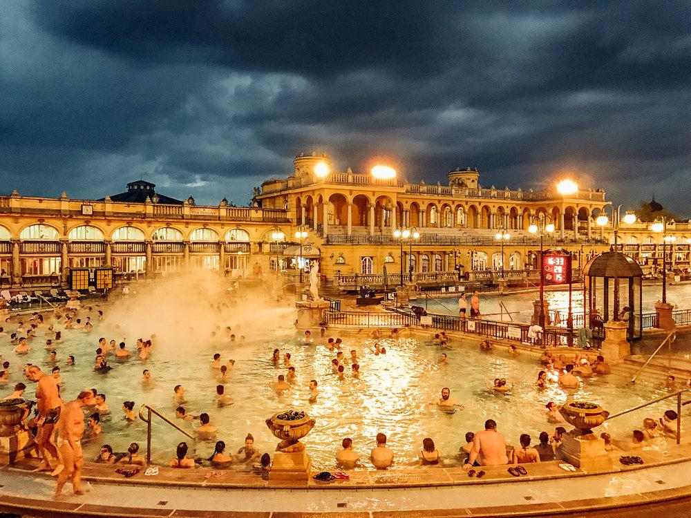Széchenyi bath in Budapest