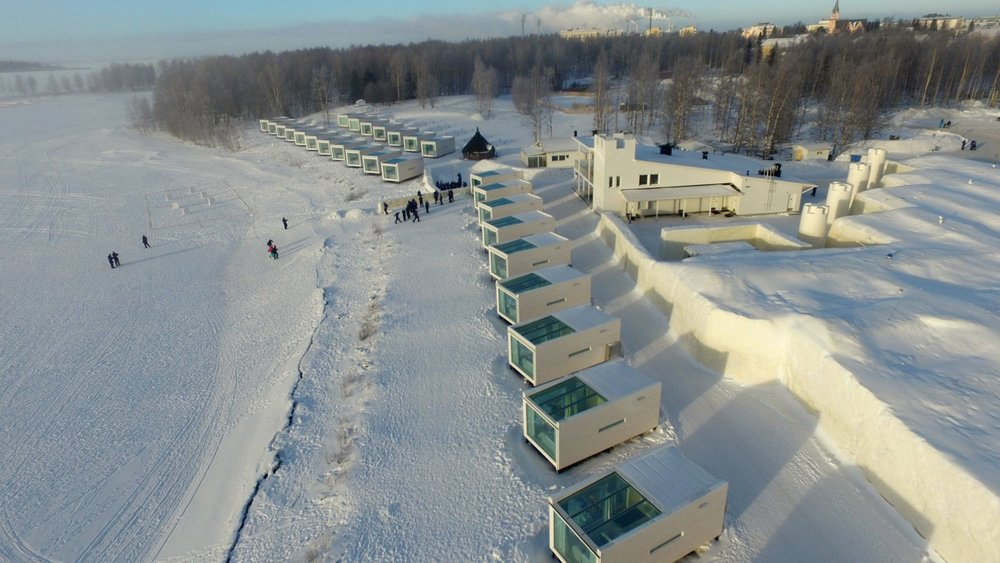 Seaside Glass Villas with Snow Hotel