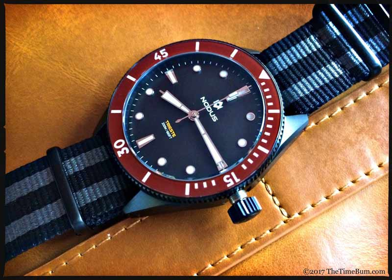 Nodus Trieste Black w/ burgundy bezel Photo credit: thetimebum.com