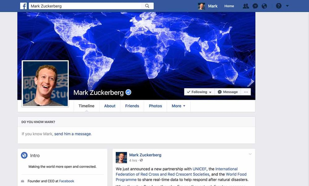 "Facebook, your personal ""homepage,"" has a sleek UI/UX that is easy to learn and navigate"
