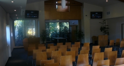 pinaroo cemetery chapel - Crestron controlled av system with multiple screens