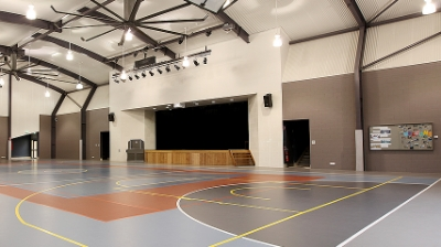 Sts Peter and Paul's primary School -   Bulimba -              projection - Custom Mobile AV control desk - Stage Lighting -   Sound System