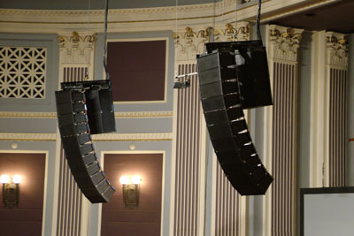 Brisbane City Hall Main Auditorium 2005 - EV Line Array and Amplifiers