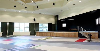 Brigidine College - Performing Arts Building full AV Fitout - classrooms, rehearsal rooms, drama, dance, art and digital signage