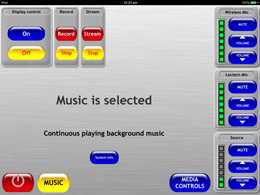 This is the start-up Screen Showing default background music playing.