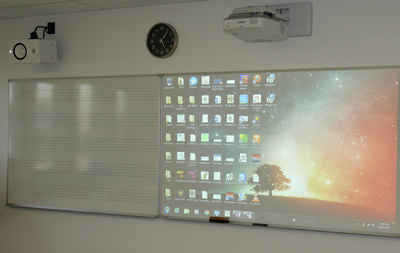 Northside Christian College - Centre for Innovation and creativity -Epson Ultra Short throw projectors - Yamaha Install Monitor speakers - JED wall controllers - non-glare whiteboards for projection and markers - Benq interactive lcd screen, sony hi-def screens