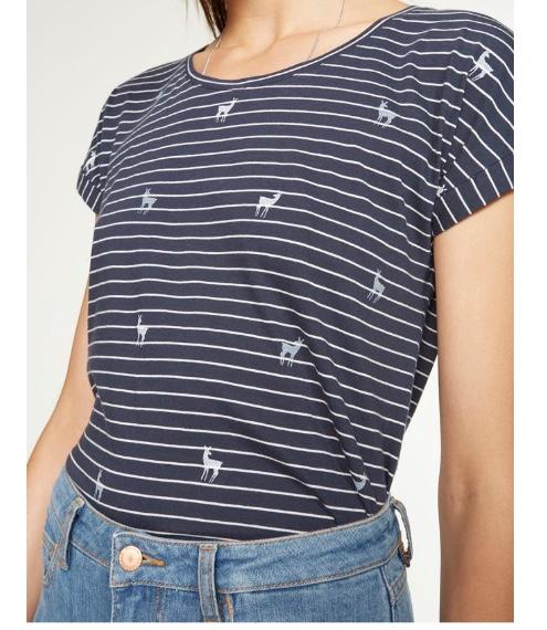 """T-Shirt """"Liv Deers on Stripes"""" von ARMEDANGELS"""