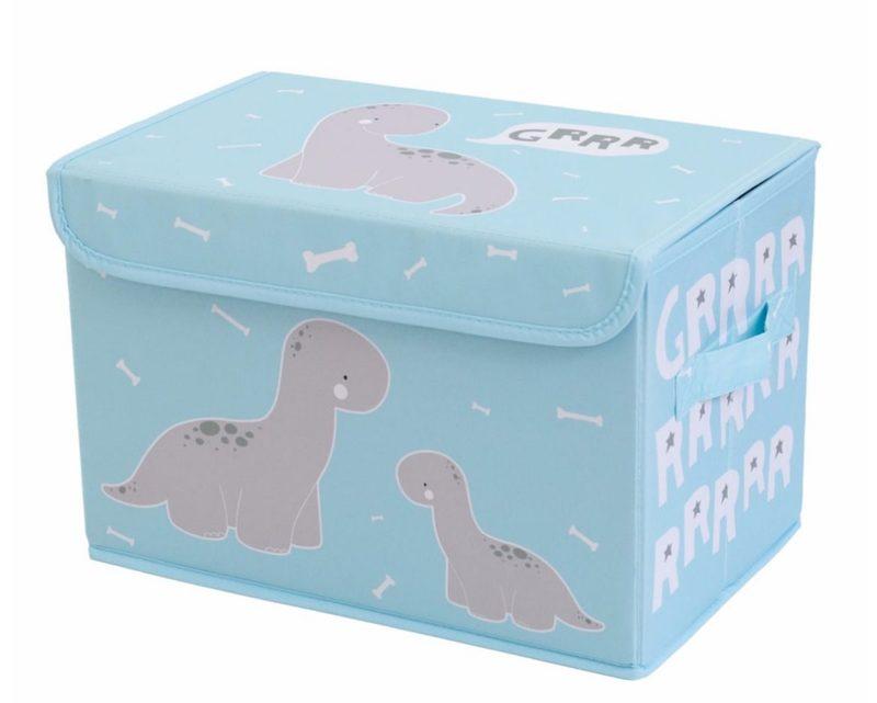 """Spielzeugkiste """"Brontosaurus"""" in Hellblau von A LITTLE LOVELY COMPANY"""