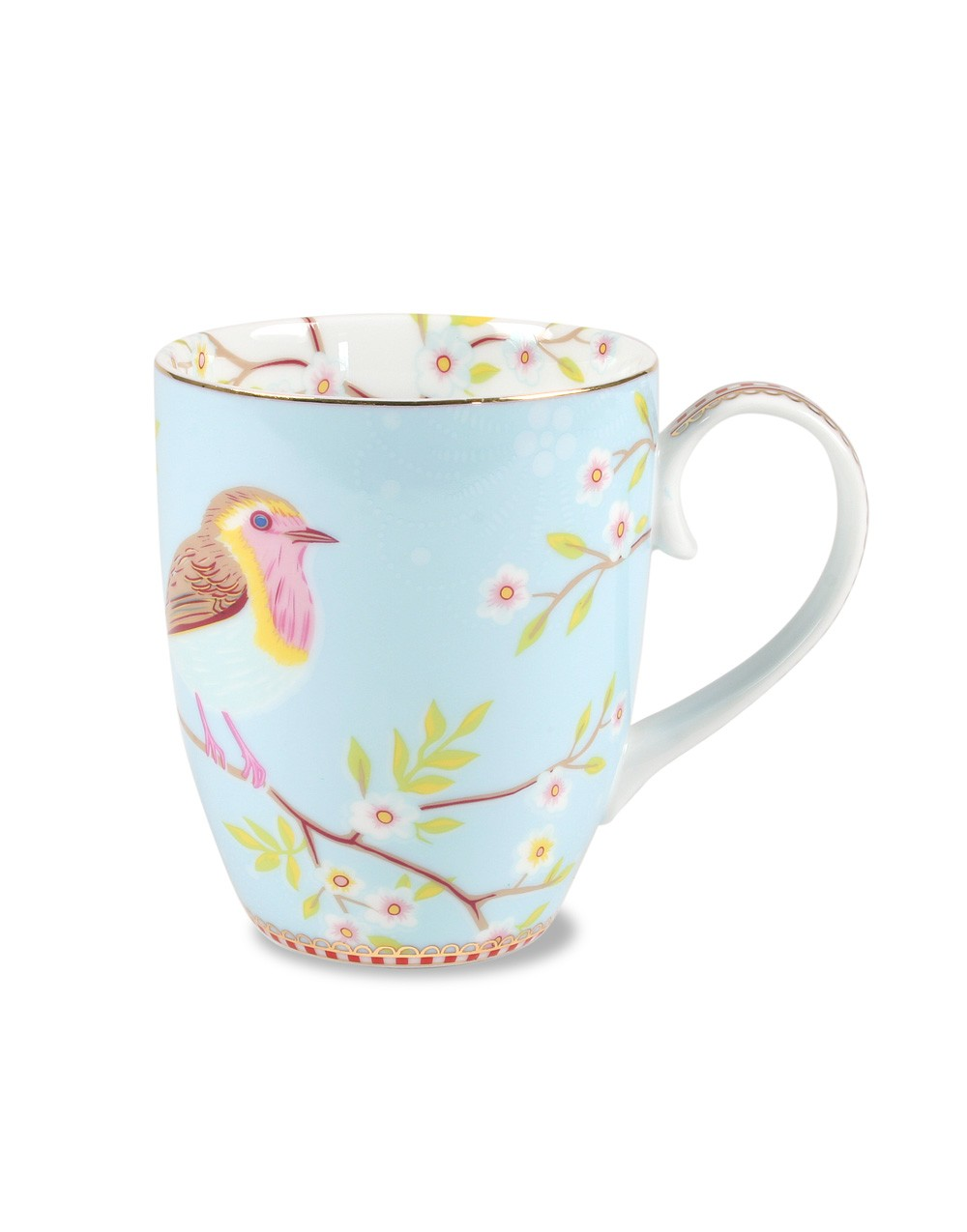 "Becher ""Floral Early Bird"" blau, PIP STUDIO"