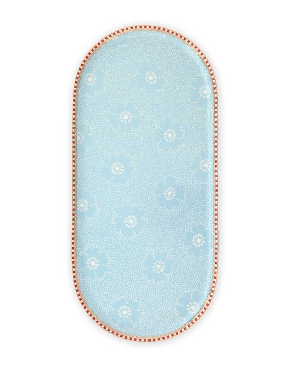 "Servierteller ""Floral Dotted Flower"" blau, PIP STUDIO"