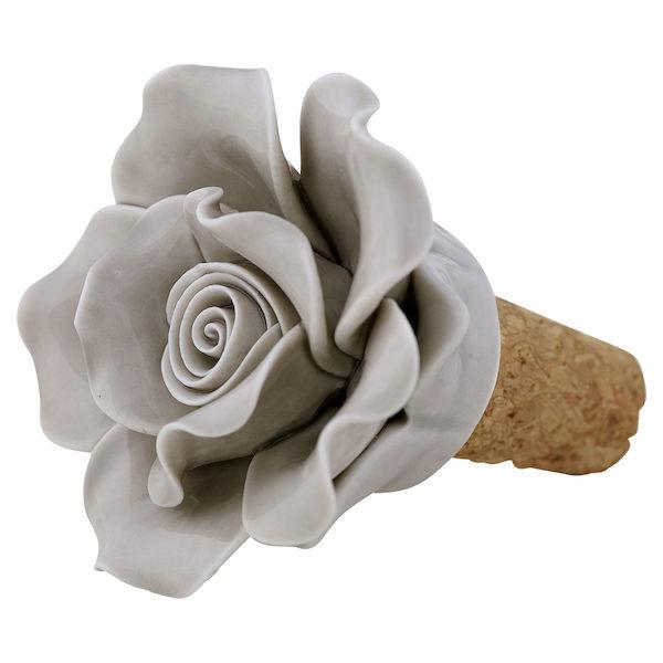 """Weinflaschenverschluss """"Flower"""" in Pale Grey von GREENGATE"""