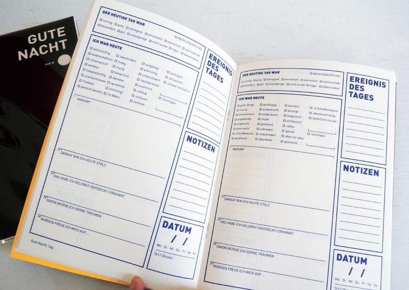 """Tagebuch """"Gute Nacht"""" von BOB & UNCLE DESIGN"""
