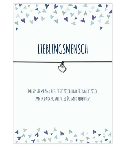 """Armband """"Lieblingsmensch"""" von DIE GLÜCKSSCHMIEDIN"""