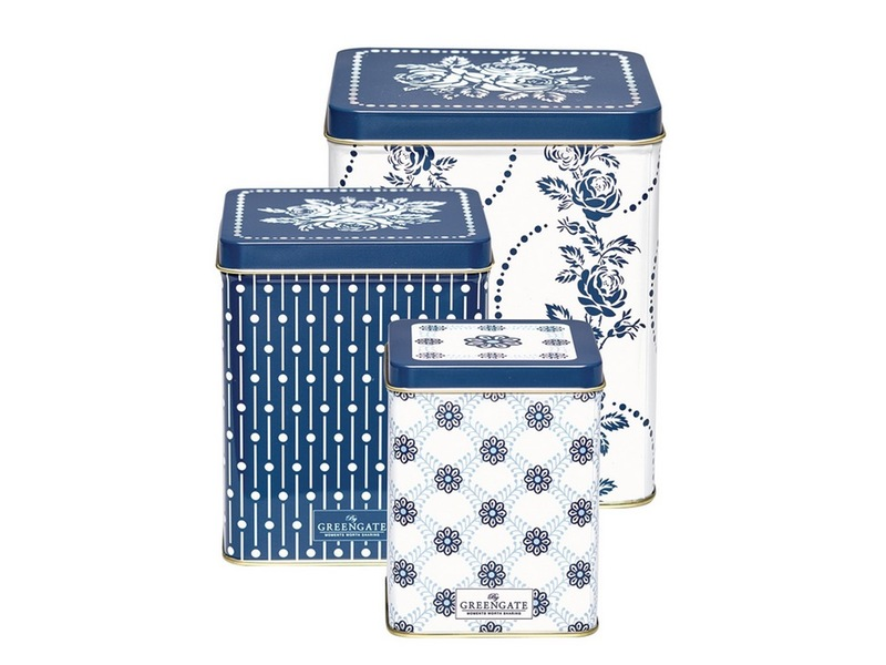 "Metalldosen-Set ""Fleur Blue"" von GREENGATE"