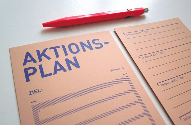"""Karte """"Aktionsplan"""" von BOB & UNCLE DESIGN"""