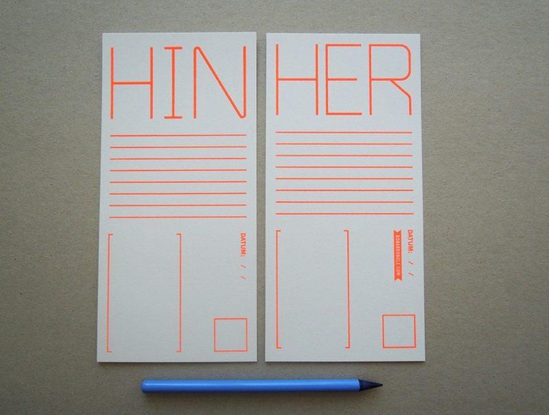 """Postkarte """"Hin und Her"""" von BOB & UNCLE DESIGN"""
