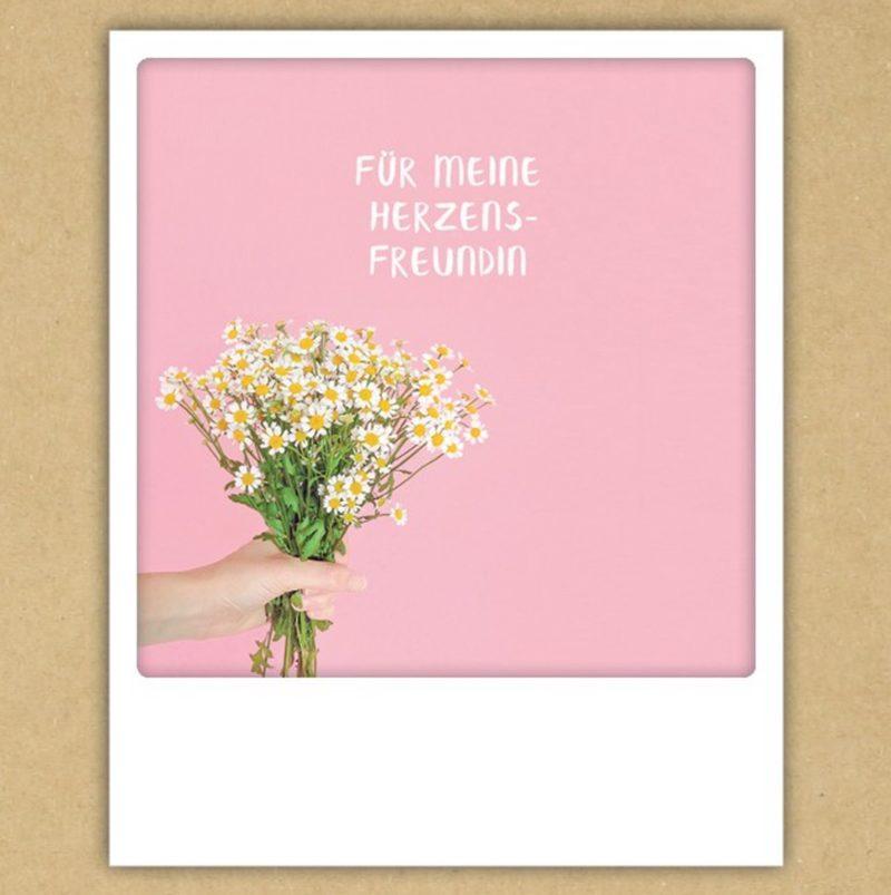 """Postkarte """"Für meine Herzensfreundin"""" von PICKMOTION"""