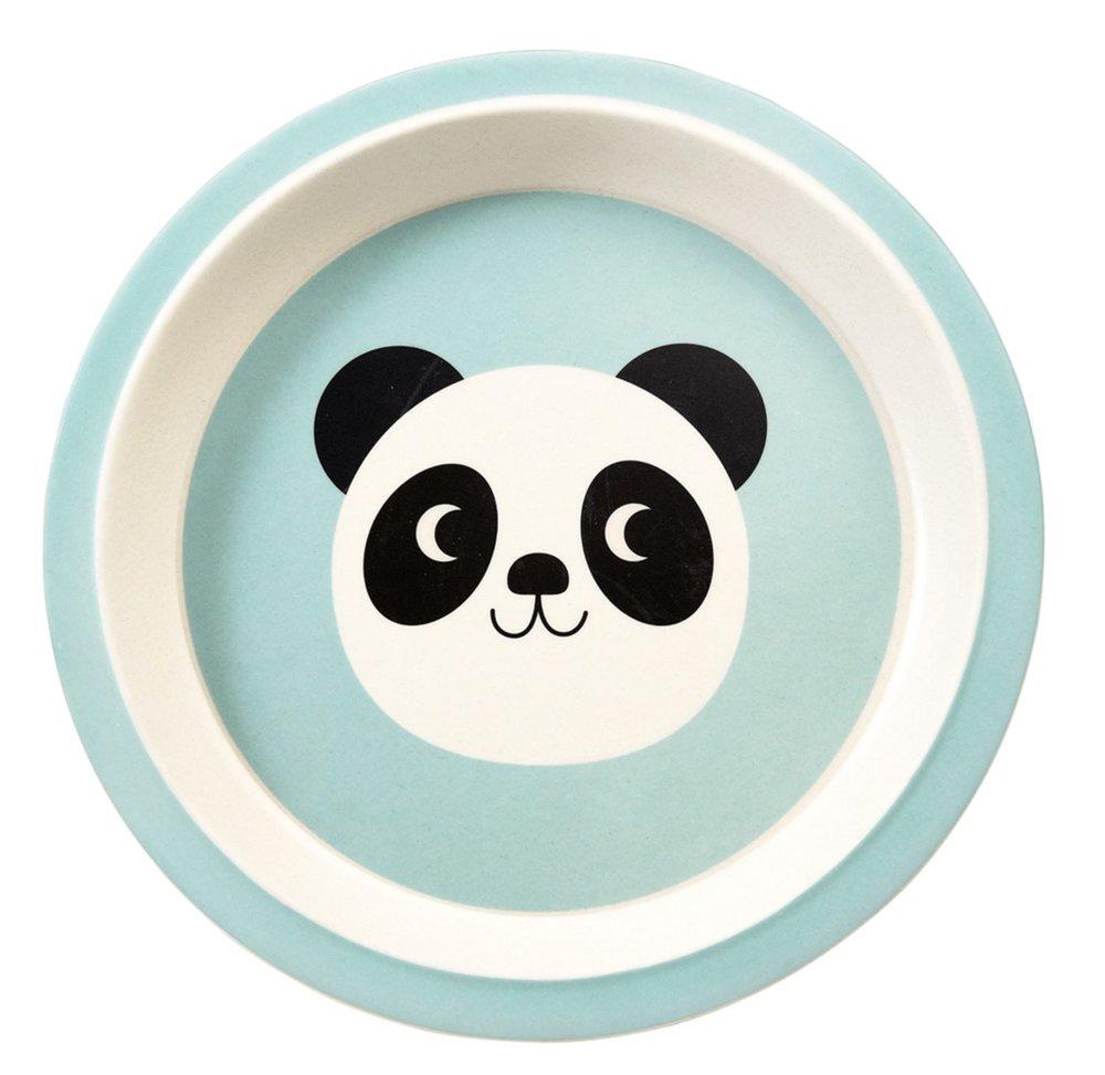 """Teller aus Bambusfaser """"Miko The Panda"""" von REX LONDON, ø 21cm"""