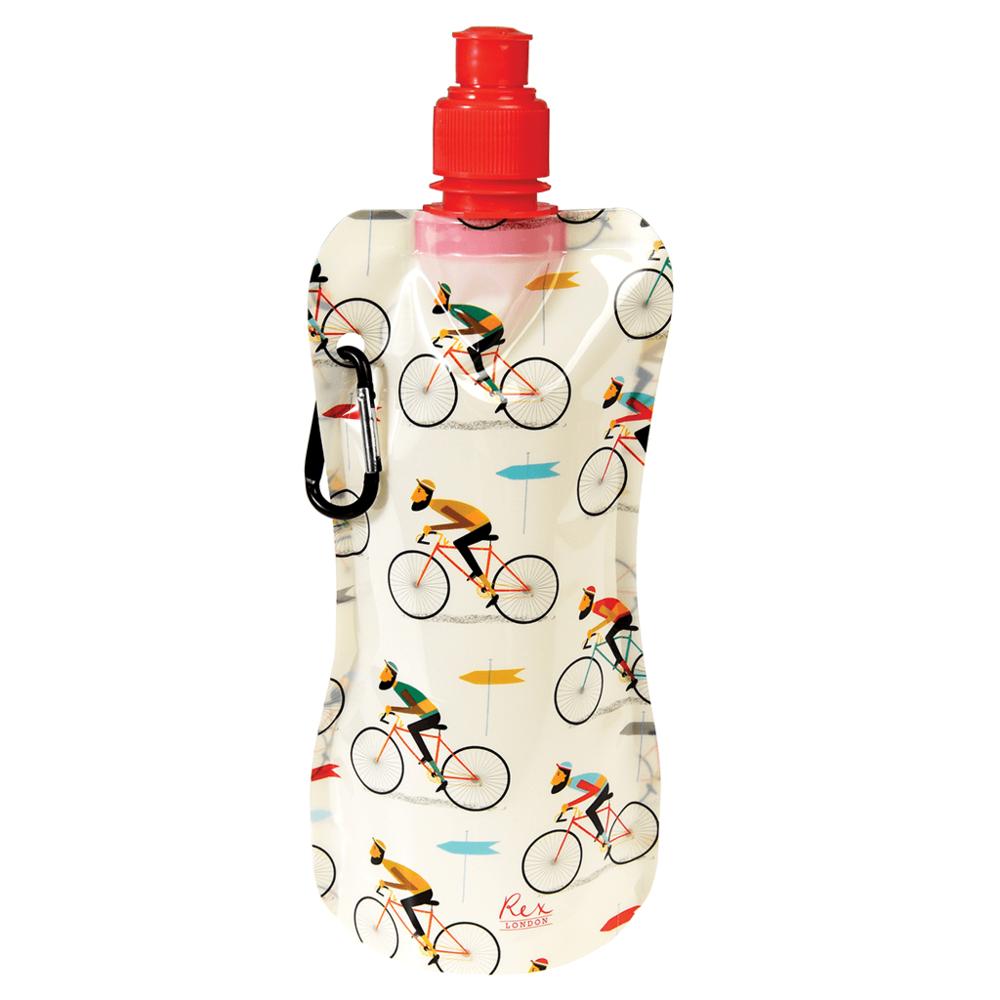 """Faltbare Wasserflasche """"Le Bicycle"""" von REX LONDON, 480ml"""