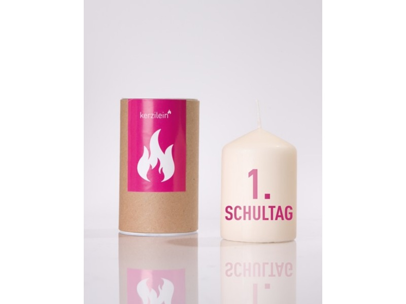 """Kerze """"1. Schultag"""" von KERZILEIN"""