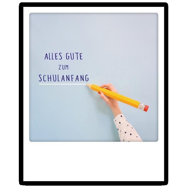 """Postkarte """"Alles Gute zum Schulanfang"""" von PICKMOTION"""