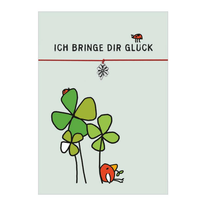 """Armband mit Kleeblatt """"Ich bringe dir Glück"""" von DIE GLÜCKSSCHMIEDIN"""
