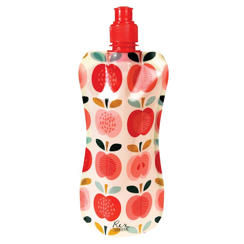 """Faltbare Wasserflasche """"Vintage Apple"""" von REX LONDON"""