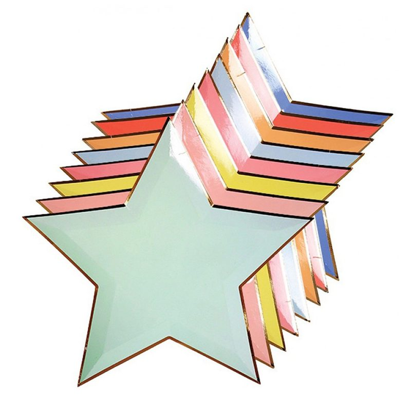 """Pappteller """"Jazzy Star Plates"""" von MERI MERI"""