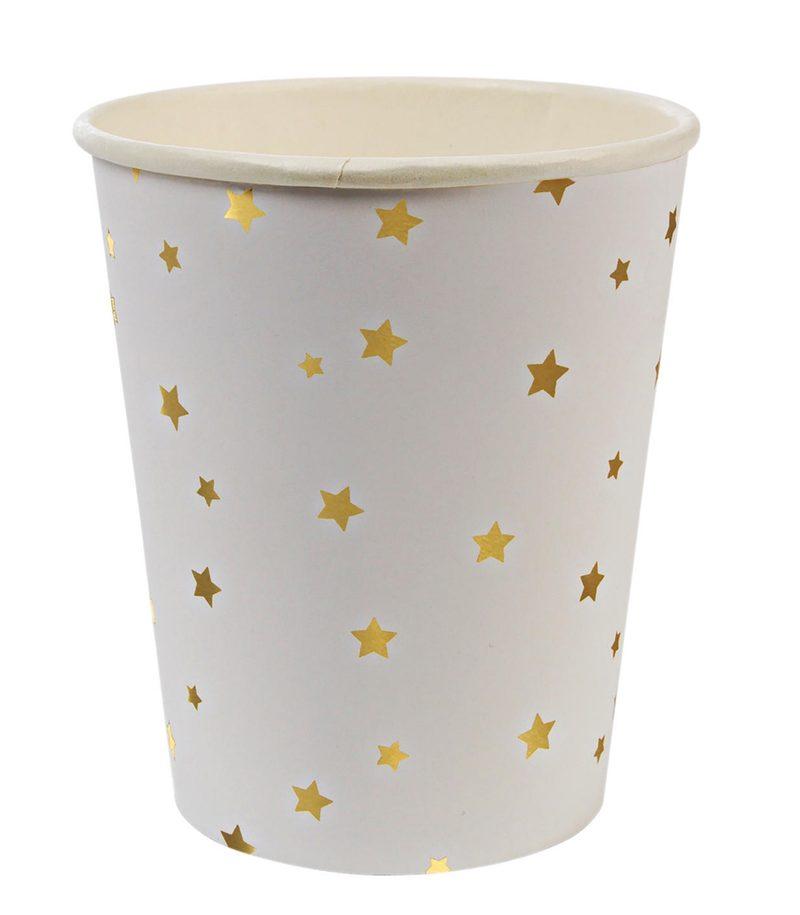 """Pappbecher """"Star Gold"""" von MERI MERI"""