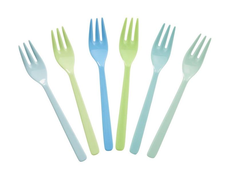 """Melamingabeln """"Blue and Green"""" von RICE"""