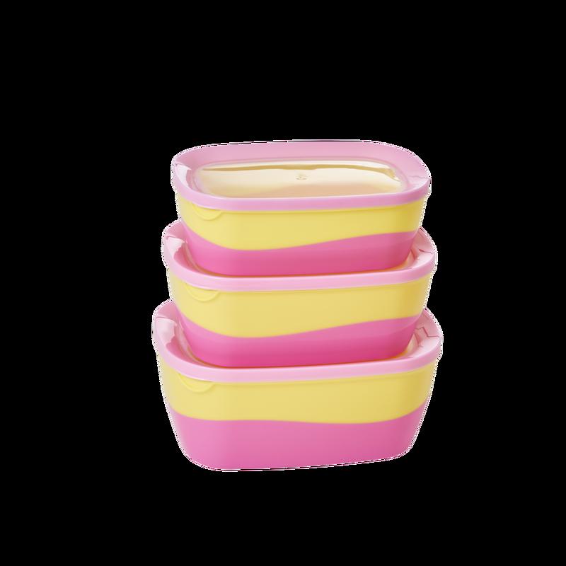 """Frischhaltedosen """"Pink and Yellow"""" von RICE"""