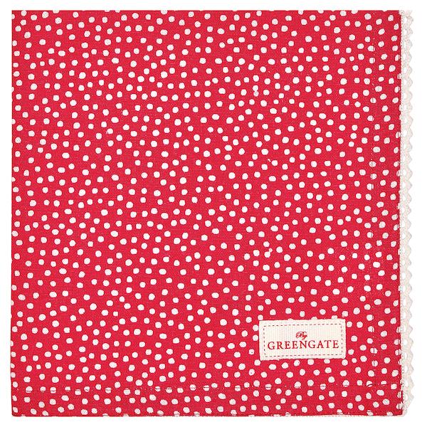 """Stoffserviette """"Dot Red"""", 40x40cm"""