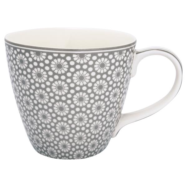 """Tasse aus Porzellan mit Henkel """"Kelly Warm Grey"""""""