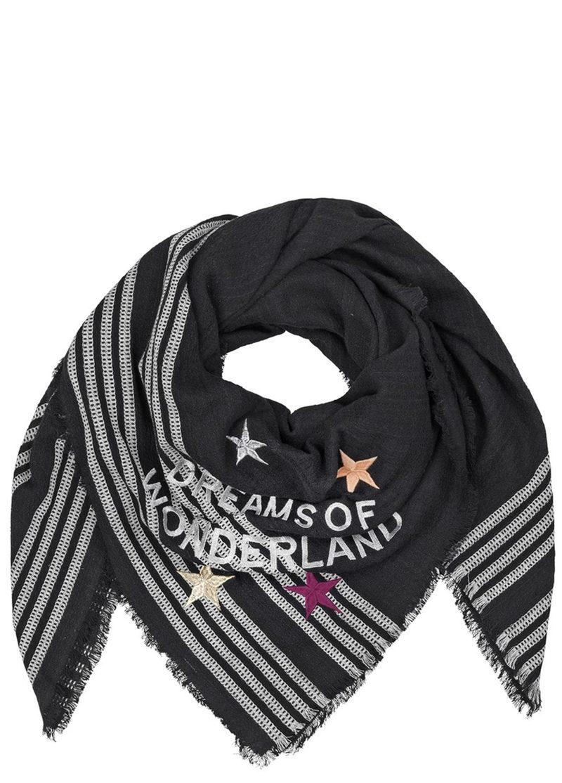 """Schal aus Baumwolle mit Stickerei """"Wonderland"""""""
