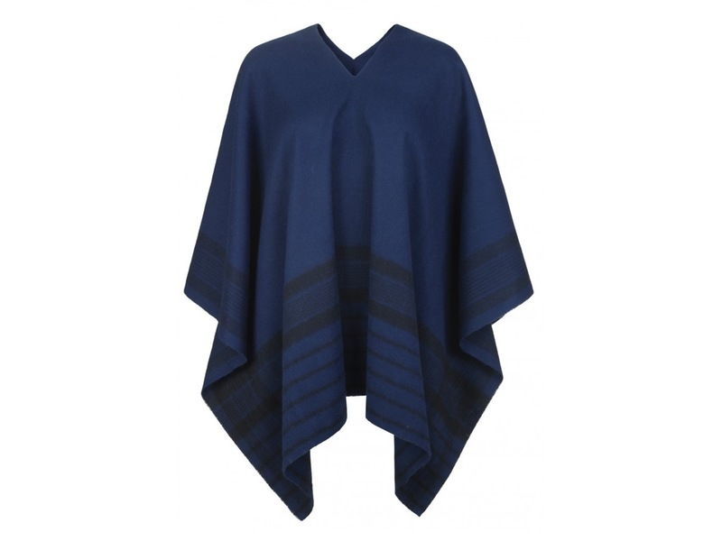 """Poncho aus Wolle """"Check"""""""