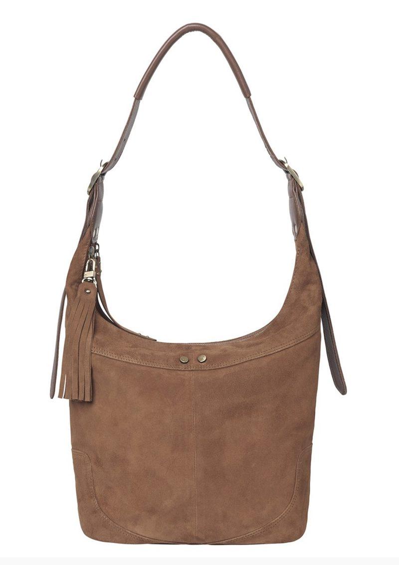 """Handtasche aus Wildleder """"Ewa"""" in braun"""