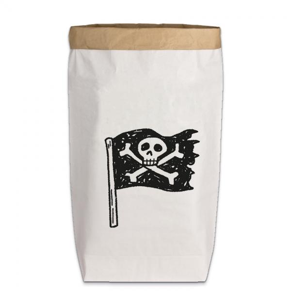 "PaperBag groß ""Piratenflagge"", Gr. L"